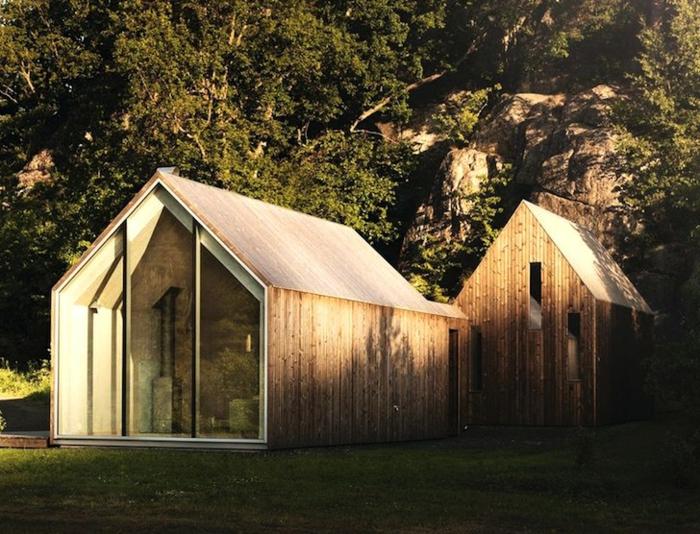 Bauhausstil architektur haus mit satteldach schöne fertighäuser