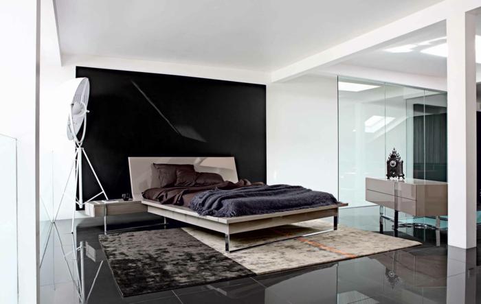 moderne-wandfarben-gestaltung-weiß-schwarz-schlafzimmer