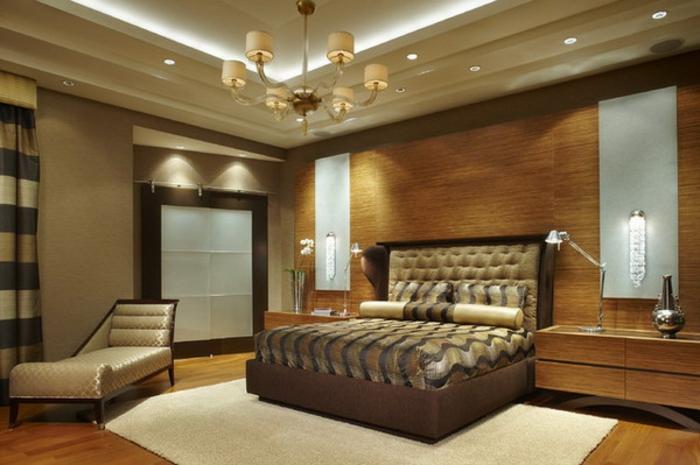 luxus schlafzimmer design ideen bett kronleuchter dekoration ... - Moderne Luxus Schlafzimmer
