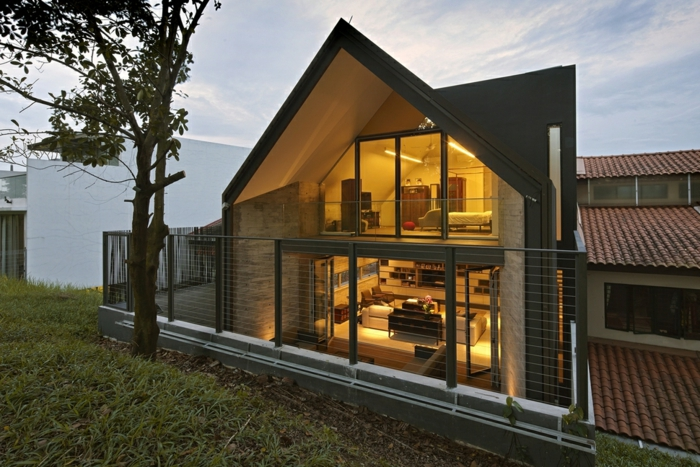 GroB Satteldach Modern Titisee Prefab Homes Huser Modernes Haus.