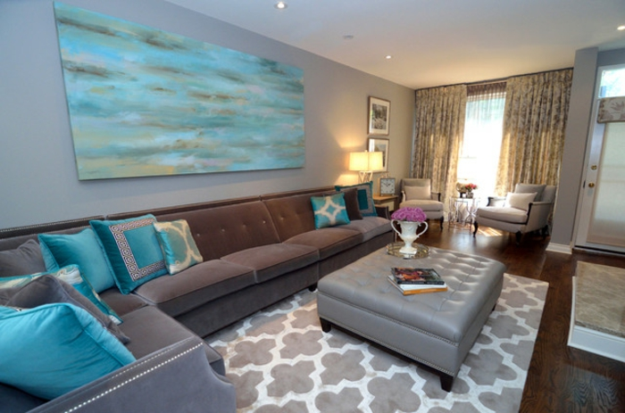 modernes-wohnzimmer-kreative-wandfarben-ideen-türkis-wandfarbe