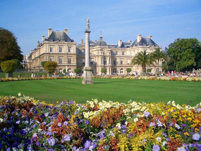 paris-urlaub-tipps-Der Jardin du Luxembourg-Luxemburggartengrün-garten-staatlicher Schlosspark