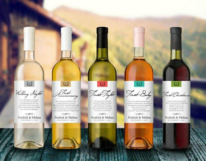 Weinetiketten-selbst-gestalten-verschiedene-Weinsorten-Weinflaschen