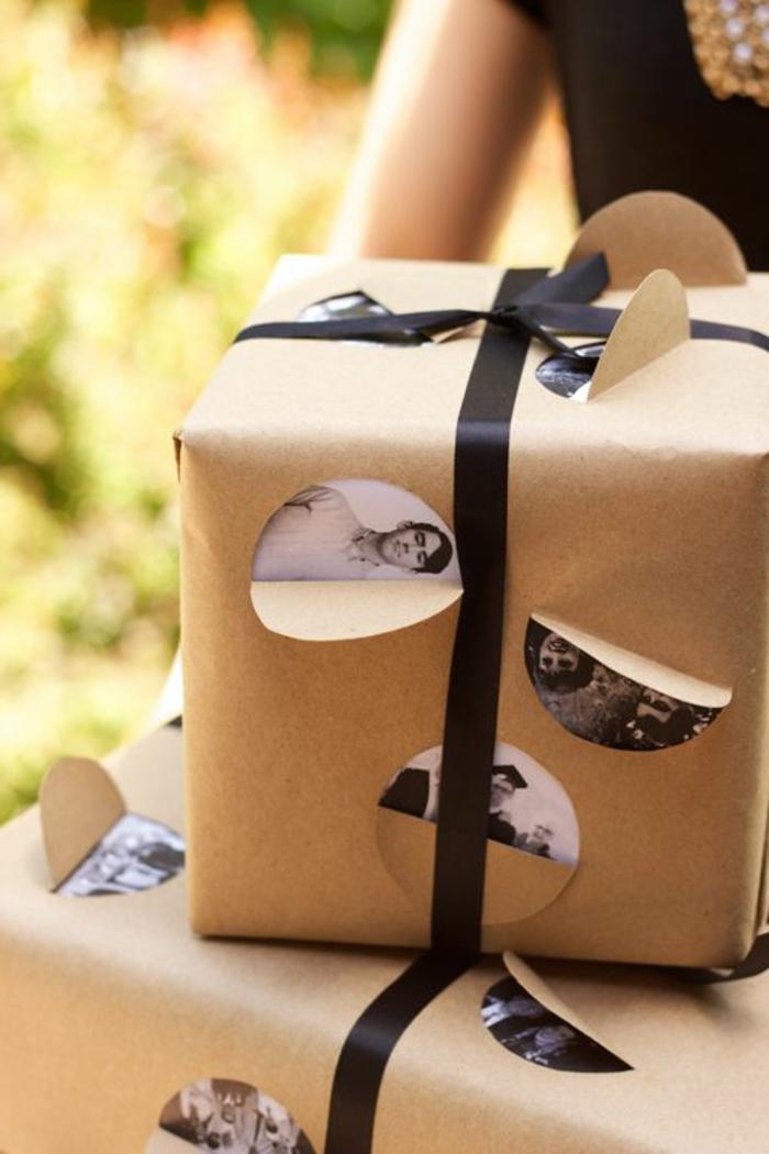 personalisierte-Geschenke-verpacken-schwarz-weiße-Fotos-originelle-Idee