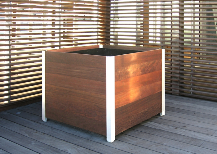 Large wood planter