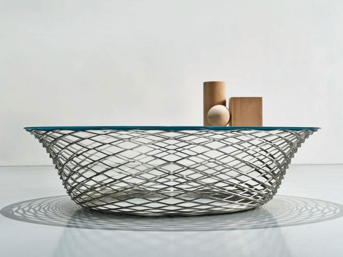 unikale gestaltung moderne couchtische aus glas und edelstahl. Black Bedroom Furniture Sets. Home Design Ideas