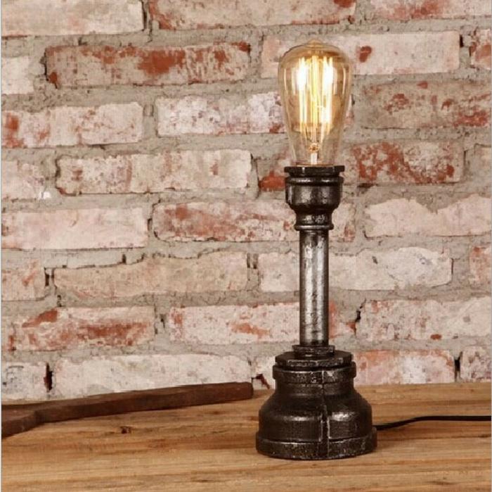 retro-rustikal-Lampe-Glühbirnenform-nachtischlampe