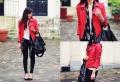 Rote Lederjacke als Akzent: 55 Bilder!