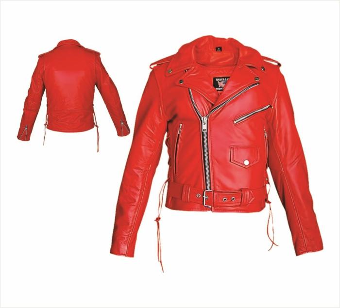rote-lederjacke-weißer-hintergrund-zwei-modelle