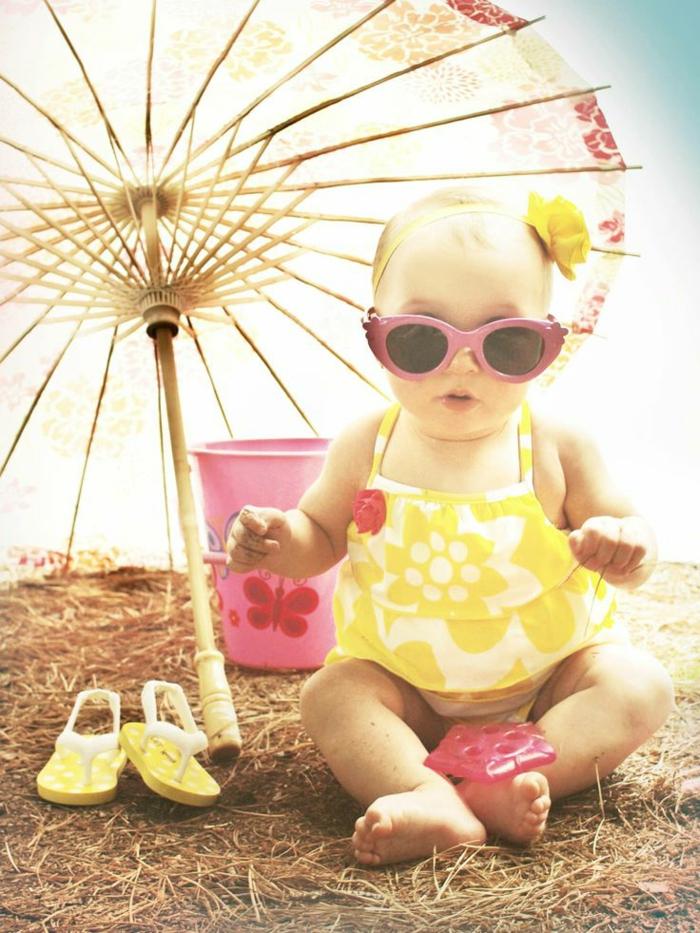 süßes-Baby-bunter-Kinderschirm-schickes-Modell-Sonnenbrille
