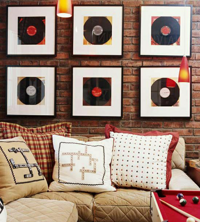 Originelle diy ideen mit schallplatten - Schallplatten wand ...