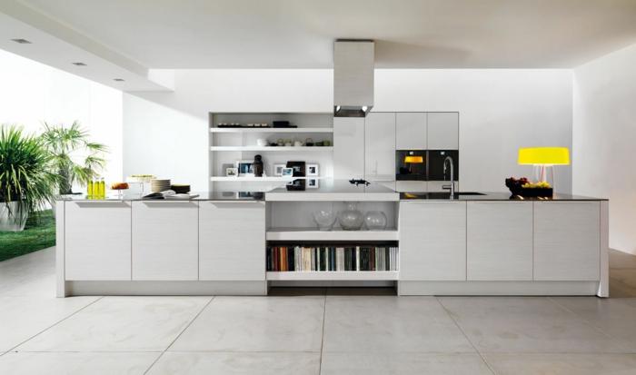 weiße möbel in der modernen küche - interessante wohnideen