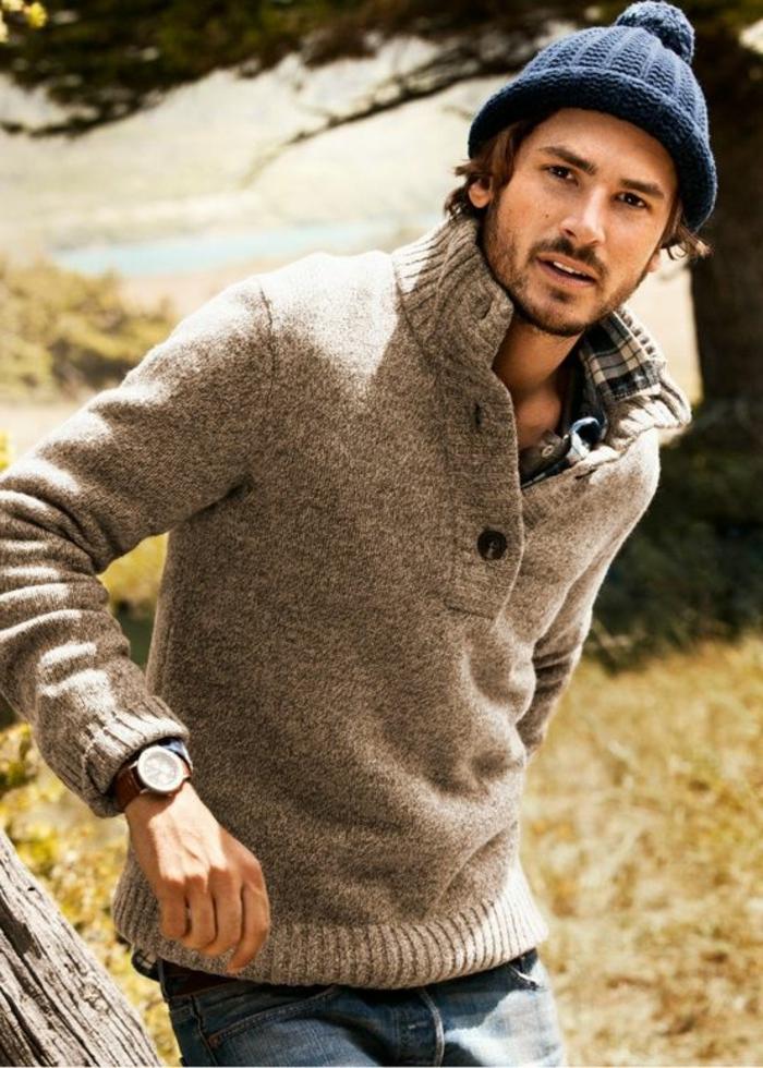 schönes-Modell-Herren-Pullover-Winterpullover