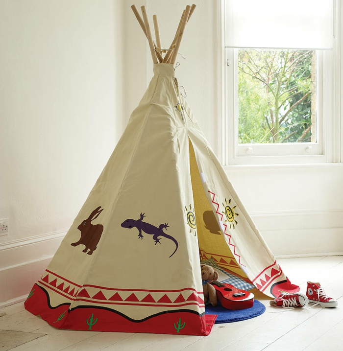 schönes-zelt-tipi-im-Kinderzimmer-Abenteuer-für-Kinder