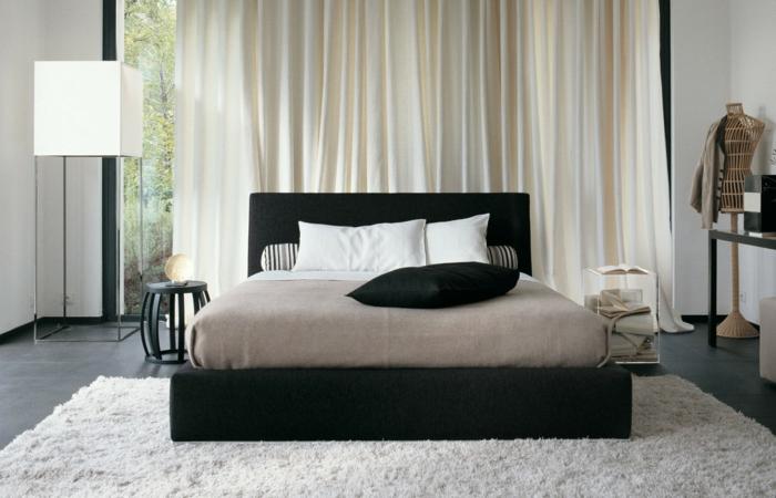 schlafzimmer-wände-schwarz-weiß-gestaltung