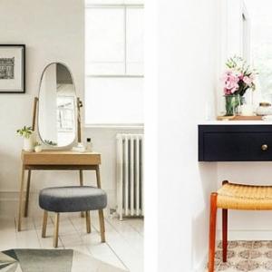 Moderner Schminktisch mit Spiegel: hübsche Fotos