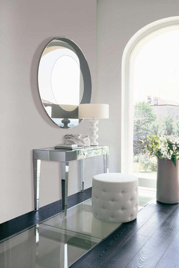 Moderner schminktisch mit spiegel h bsche fotos - Spiegel oval silber ...