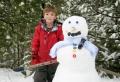 Wer will einen coolen Schneemann bauen?