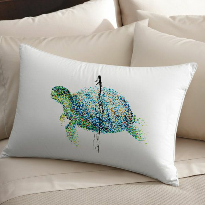 simples-Modell-Kissenbezug-Schildkröte-Gestalt-Dekoration