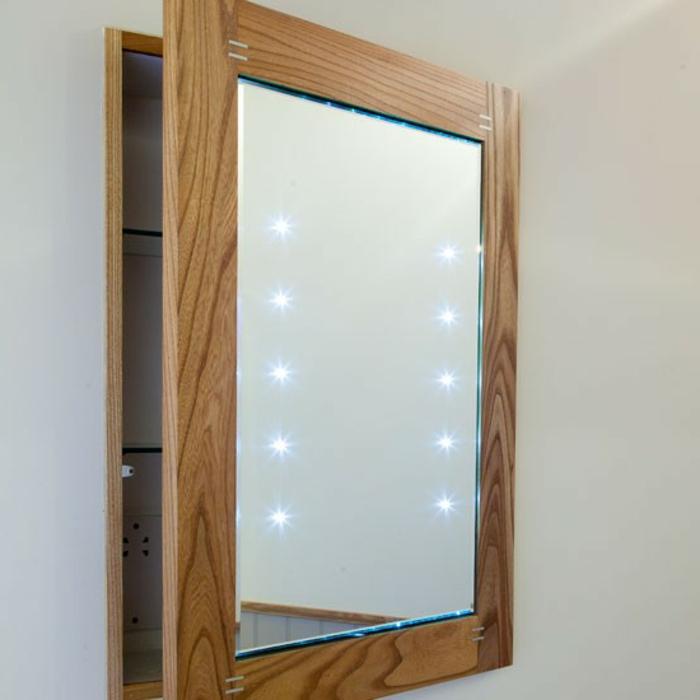 spiegelschrank bad 80 cm led beleuchtung doppelt verspiegelt ... - Badezimmer Spiegelschrank Beleuchtet