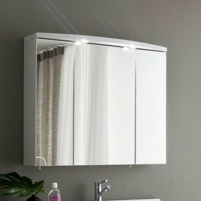 spiegelschrank mit beleuchtung und ablage 161718. Black Bedroom Furniture Sets. Home Design Ideas