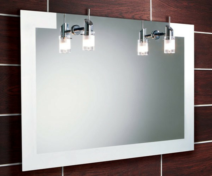 originelle ausstattung  badezimmer spiegelschrank mit led licht