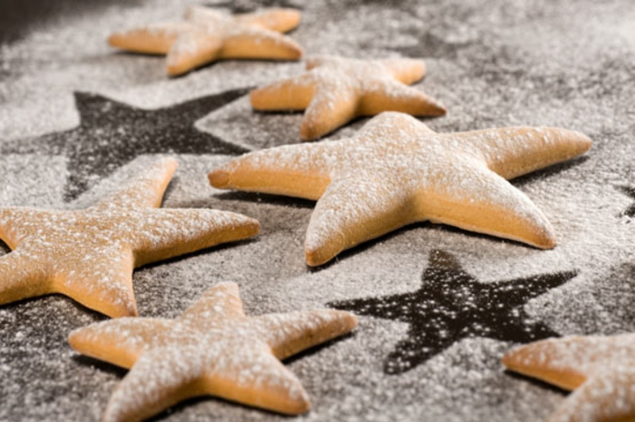 stern-form-weihnachts kekse