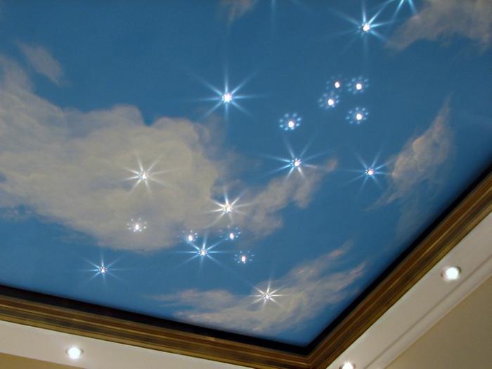 Der Sternenhimmel aus Led könnte auch auf den Boden instaliert werden