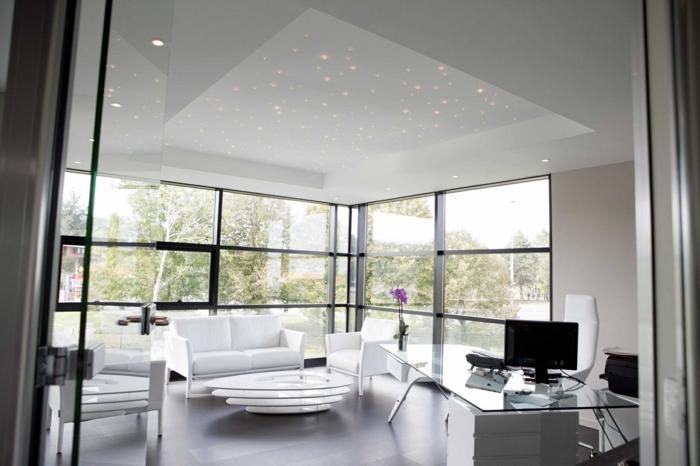 44 fotos sternenhimmel aus led f r ein luxuri ses - Sternenhimmel wohnzimmer ...