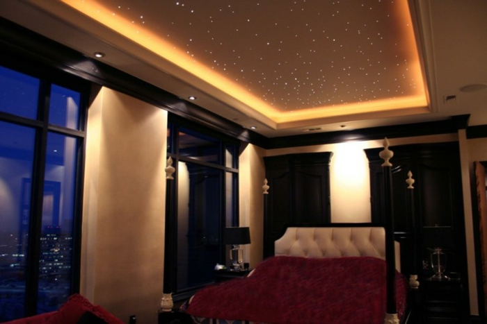 44 fotos sternenhimmel aus led f r ein luxuri ses interieur. Black Bedroom Furniture Sets. Home Design Ideas