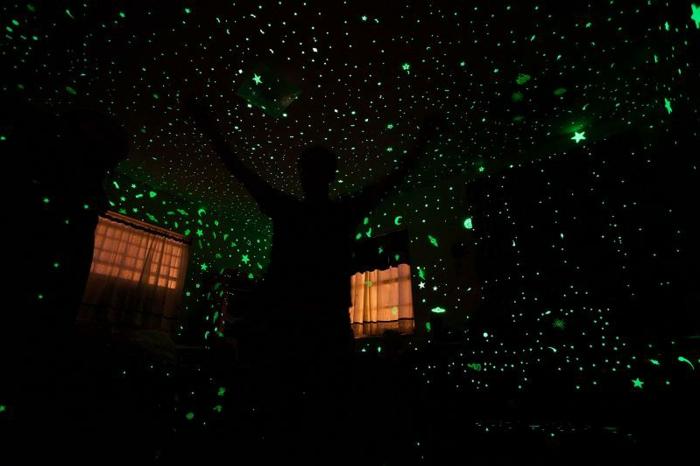 Sternenhimmel Zimmerdecke Led Faser : Bemerken Sie nun, wie diskret dieser Sternenhimmel aus Led erscheint