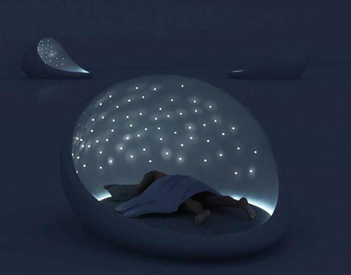 Außergewöhnliche betten mit licht  44 Fotos: Sternenhimmel aus Led für ein luxuriöses Interieur ...