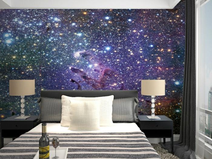 sternenhimmel-aus-led-tolles-interieur-lila-wände-gestalten