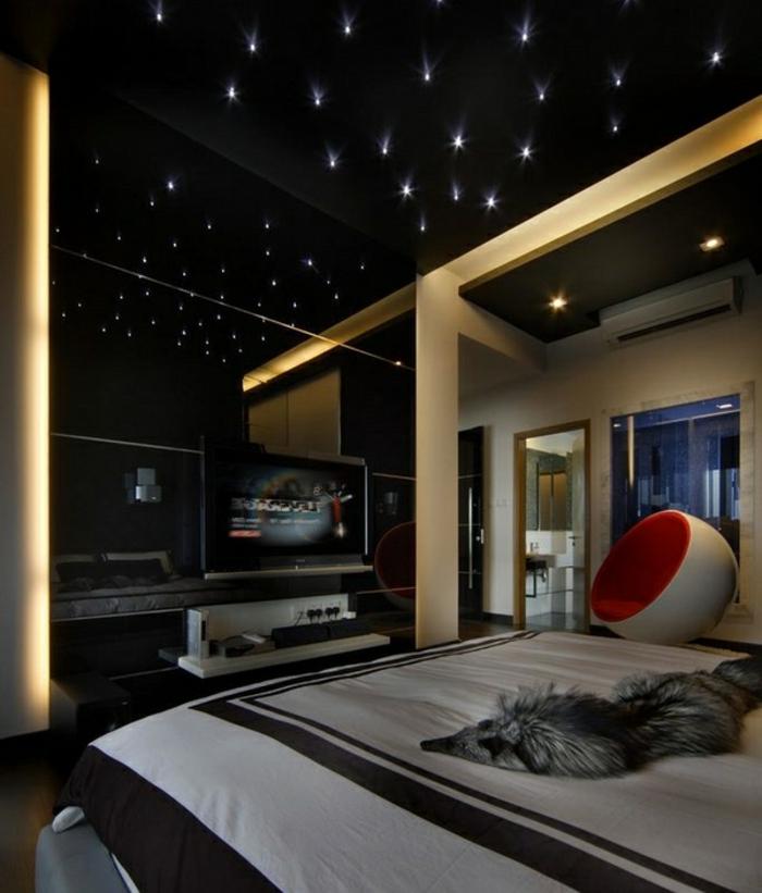 44 fotos sternenhimmel aus led f r ein luxuri ses interieur. Black Bedroom Furniture Sets. Home Design Ideas