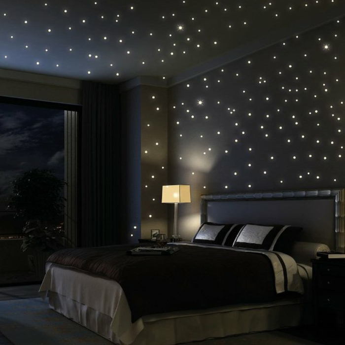 Fotos Sternenhimmel Aus Led Für Ein Luxuriöses Interieur - Schlafzimmer sternenhimmel