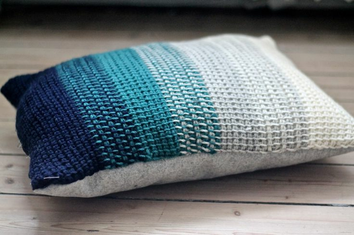 tunesisches-Modell-Crochet-Kissen-Ombre-Muster