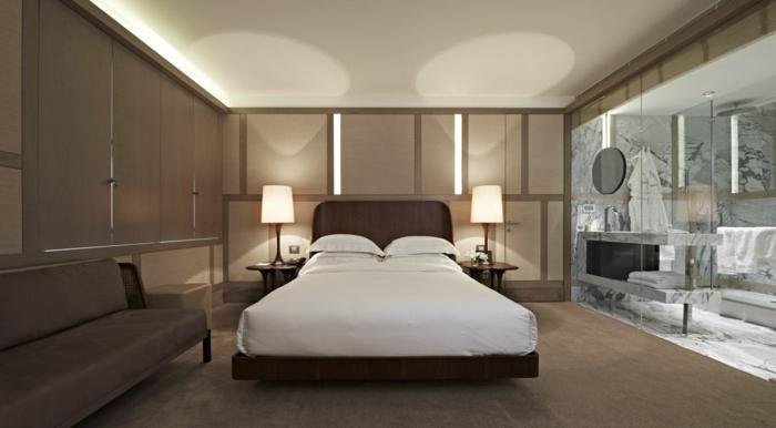 Charmant Unikale Wohnidee Modernes Schlafzimmer Mit Schicker Beleuchtung