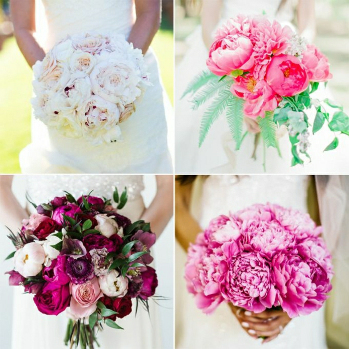 verschiedene-runde-brautsträuße-romantische-süße-Farben-Brautstrauß-Ideen