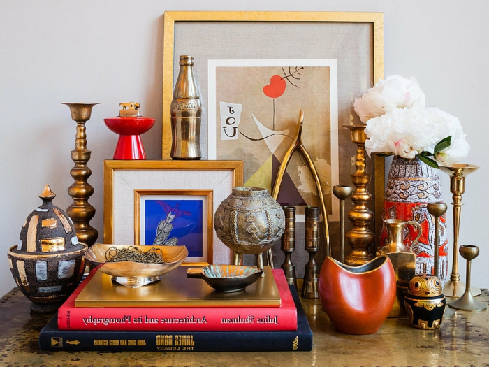 vintage-deko-Kerzenhalter-Vasen-Souvenirs