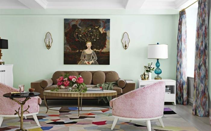 wandbilder-Frauen-Gesicht-art-aristokratisches-Wohnzimmer-Interieur