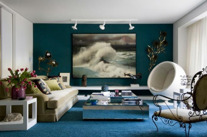 wandbilder-Meer-Wellen-Datrstellung-Freiheitsgefühl-elegantes-Wohnzimmer-Interieur
