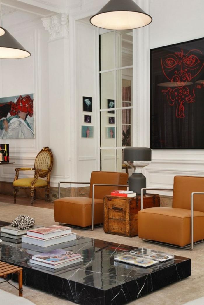 wandbilder-asiatische-Motive-alltägliche-Darstellungen-luxuriöses-Wohnzimmer-Interieur
