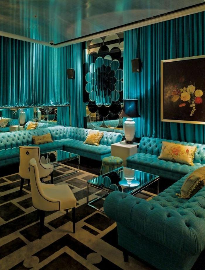 wandfarbe-palette-türkis-im-wohnzimmer