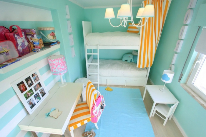 wandfarbe-türkis-jugendzimmer-färben-schöner-wohnen-wandfarbe