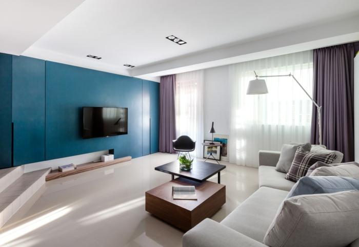 wandfarbe-taubenblau-wand-streichen-tipps-wohnzimmer