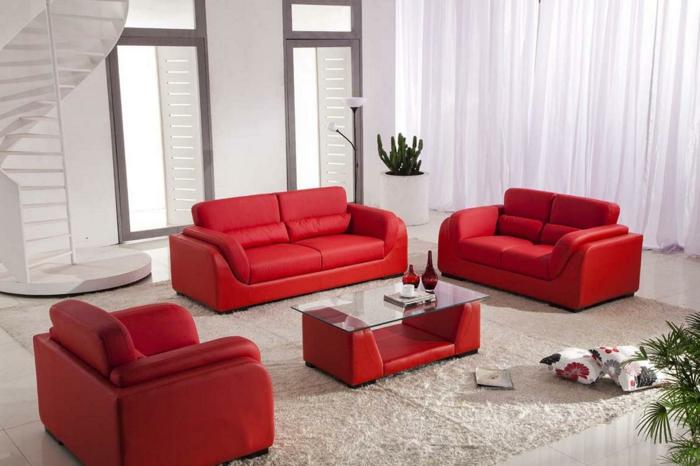 wandfarbe-weiß-und-sofas-in-der-farbe-rot-super-farbgestaltung-für-die-wohnung