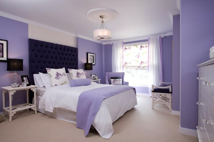 wandfarben ideen schlafzimmer lavendel wandfarbe - Wandfarbe Ideen