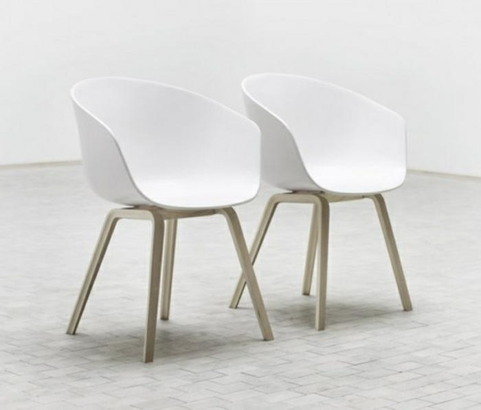 weiße-Loungesessel-Designer-Stühle-Lehne-innovatives-Design