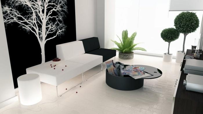weiße-möbel-wandfarbe-schwarz-wohnzimmer-wandfarben-gestaltung