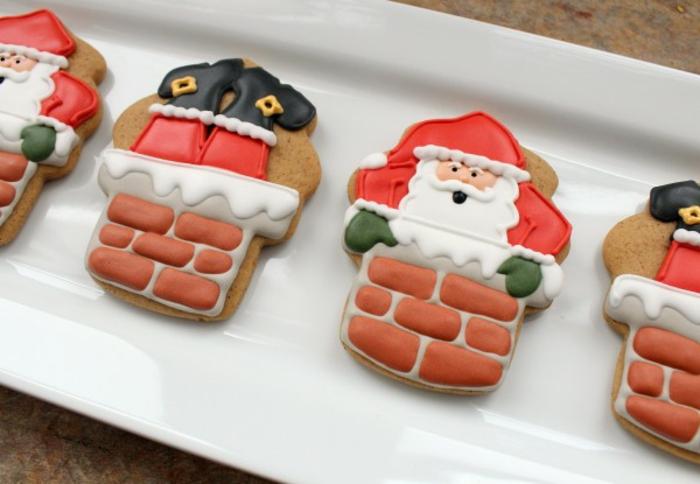 weihnachts kekse-ideen-für-backen-weihnachtsmann